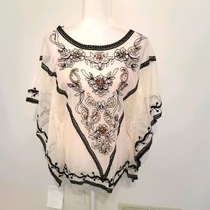 NWT KRISTA LEE GORGEOUS SHEER TOP
